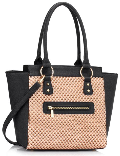 Fashion Tote Bag Black ls00414 black beige fashion tote bag