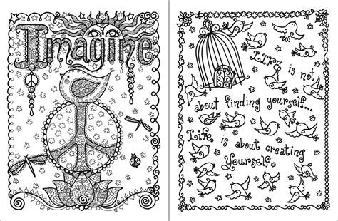 Posh Adult Coloring Book Inspirational Quotes For Fun