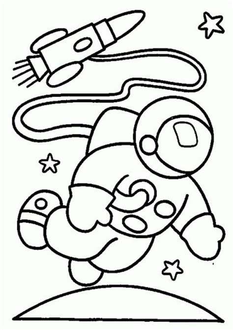 preschool rocket coloring page astronaut and rocket in space coloring pages space
