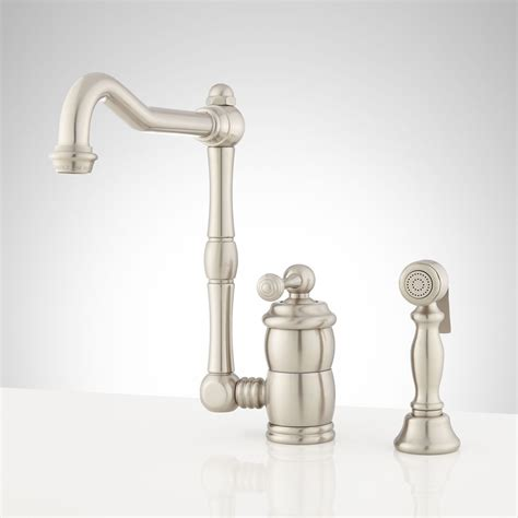 kitchen faucets with sprayer in one kitchen faucets with sprayer