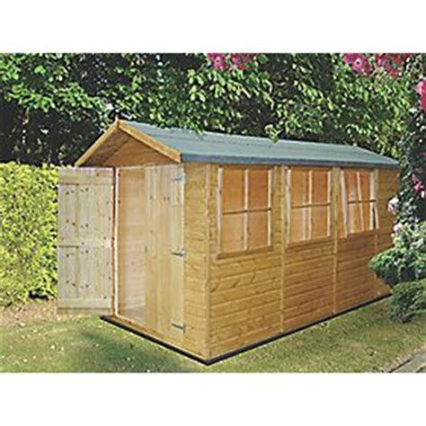 Shed Felt Screwfix by Shire 7 X 13 Nominal Apex Shiplap T G Timber Shed