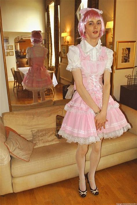 sissy boy in salon first time a sissy in his first dress his sister gave it to him for