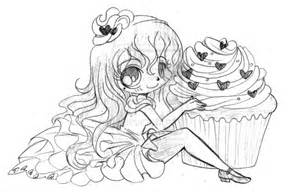 Red Velvet Cupcake  Sketch By YamPuff On DeviantArt sketch template
