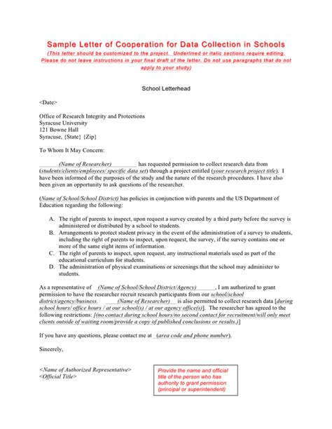 Official Letter Request For Cooperation Sle Letter Of Cooperation For Data Collection In Schools In Word And Pdf Formats