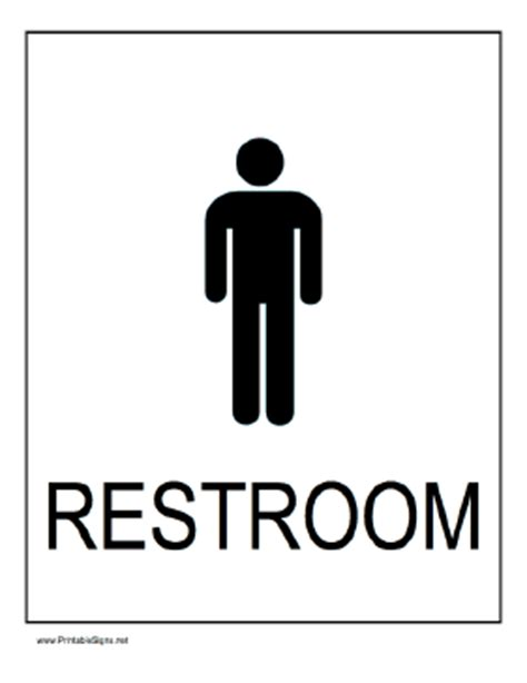 bathroom men sign boys restroom