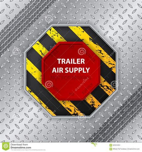 Trailer Air Supply Knob by Industrial Design With Tire Track And Trailer Air Supply