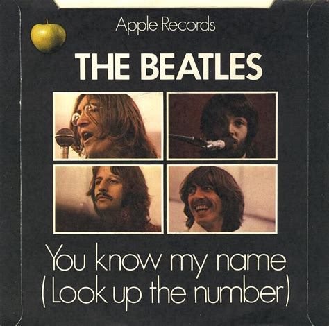 How Do You Look Up Records The Beatles Collection 187 Let It Be You My Name