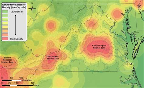 seismic map usa an earthquake history finding faults in virginia uva today