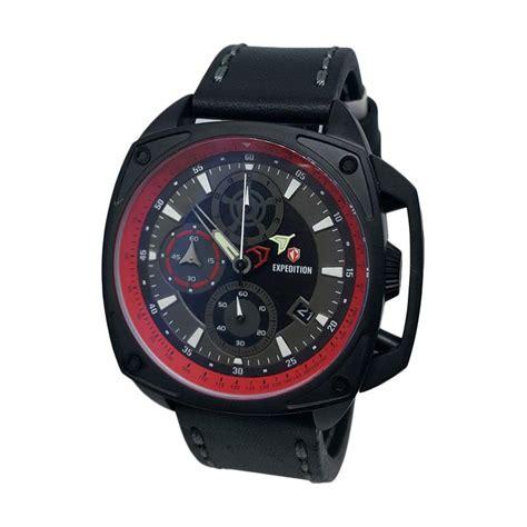 Jam Tangan Hitam Tali Kulit jual expedition chronograph tali kulit jam tangan pria 140450 hitam merah harga