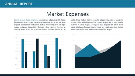 Market Expenses Powerpoint Themes Slidemodel Report Powerpoint Template