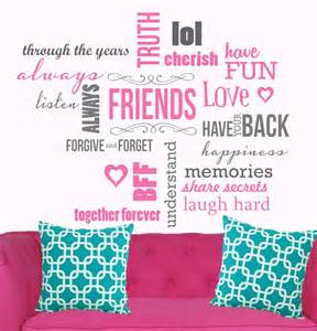 words friends perfect for teenage girl room available sale wall stickers bedrooms home picture house plans