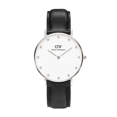 Gelang Daniel Wellington Stainless daniel wellington sheffield 34mm stainless steel and black leather