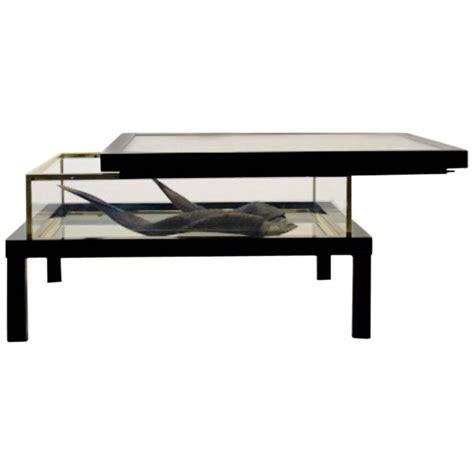 Sliding Top Coffee Table Modernist Romeo Rega Sliding Top Brass Coffee Table For Sale At 1stdibs
