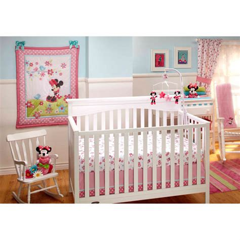 minnie mouse nursery bedding disney baby bedding sweet minnie mouse 3 piece crib bedding set walmart com