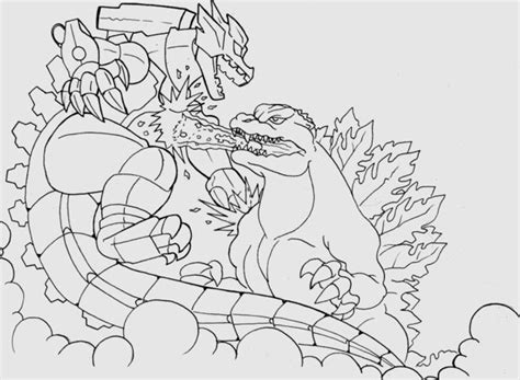Godzilla Vs Mechagodzilla Coloring Pages   godzilla vs mechagodzilla free coloring pages