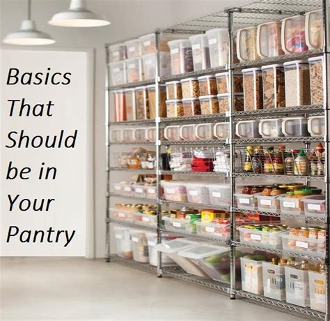 Basic Pantry by Basics That Should Be In Your Pantry The Prepared Page