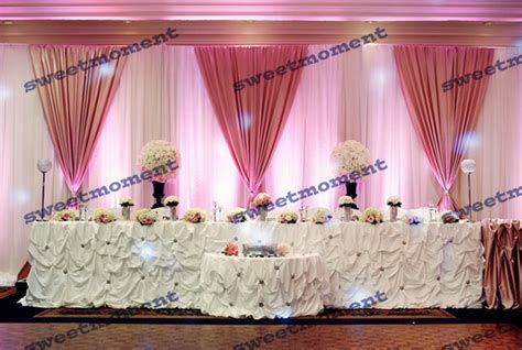 3x6m Luxury Sheer Wedding curtain with Hot Pink drape