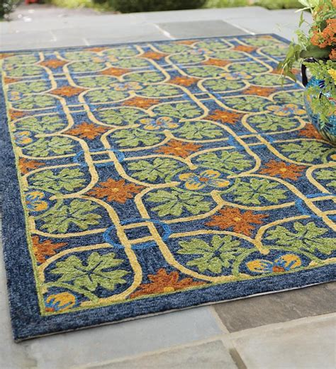 8 X 10 Outdoor Rug Talavera Tile Indoor Outdoor Rug 8 X 10 Indoor