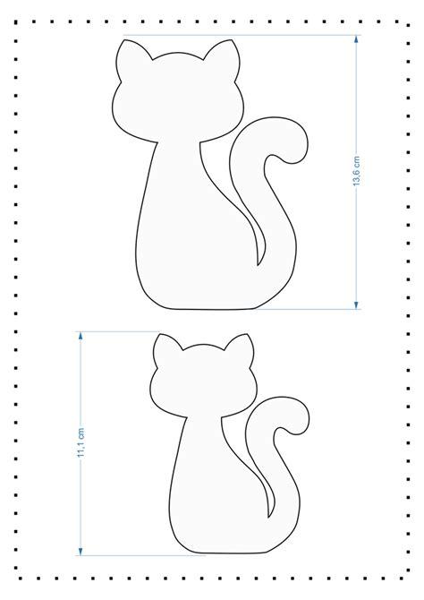 Marca Página de Gatinho com molde | Gatinho de feltro