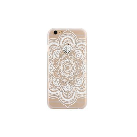 coque iphone 6 6s plastique transparente et blanche motif fleur blanche mobile store