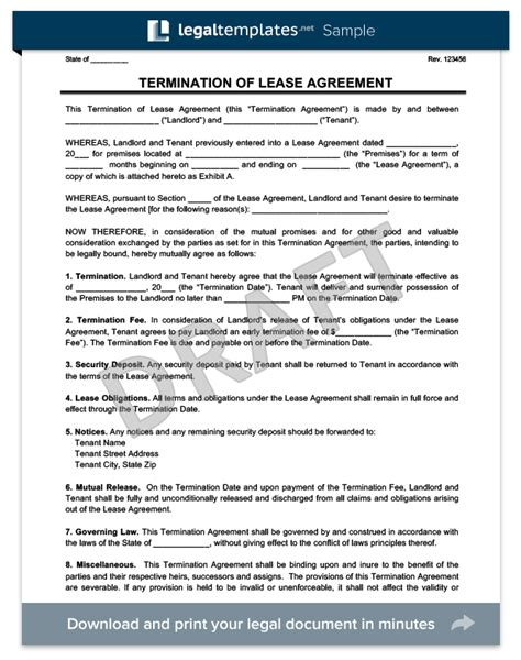 termination of lease agreement letter south africa early termination of lease agreement letter sle south