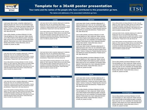 Powerpoint Poster Template 36x48 ppt template for a 36x48 poster presentation powerpoint presentation id 4472424