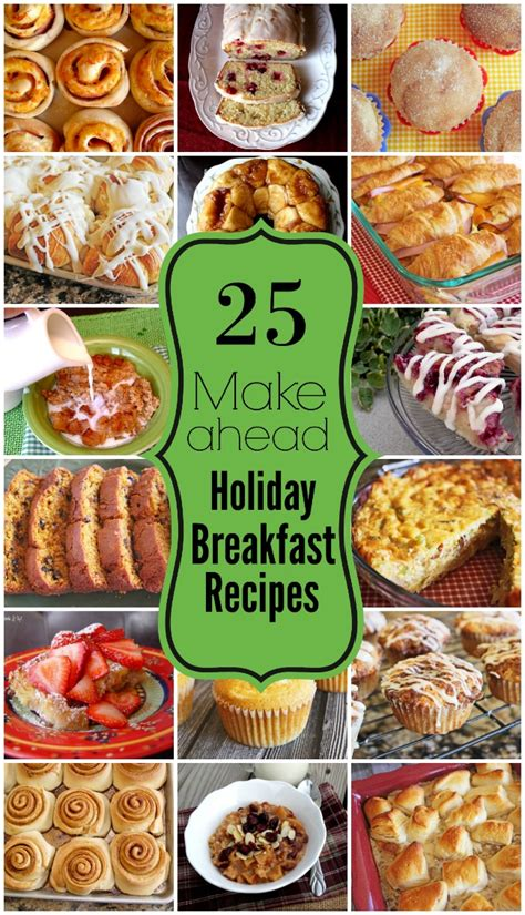 make ahead food gift 25 make ahead breakfast recipes