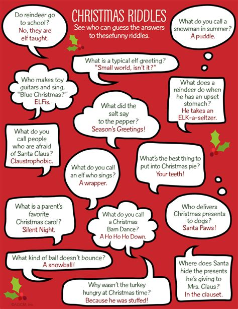 printable christmas jokes for adults christmas activities for kids books and riddles blue