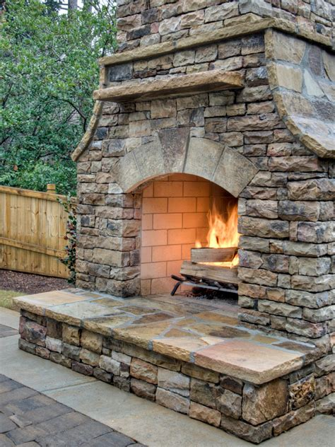 Outdoor Pits And Fireplaces by How To Build An Outdoor Fireplace Hgtv