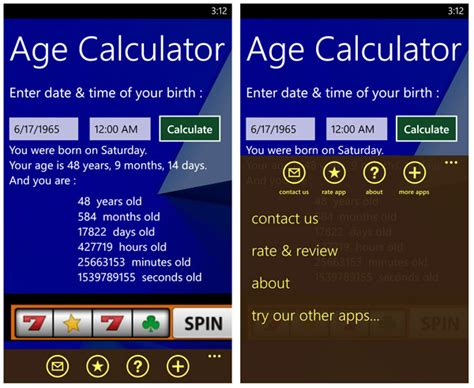 calculate age age calculator a windows phone app that may make you feel windows central