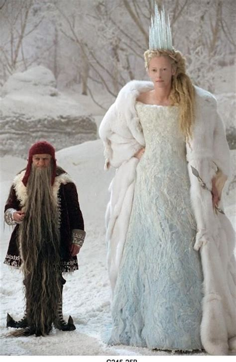 narnia film heroine the white witch and her ugly little dwarf accomplice
