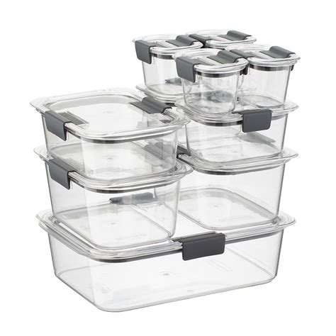 rubbermaid kitchen storage containers rubbermaid brilliance food storage containers set of 20 the container store