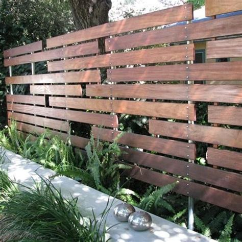 good fence   light  wood fence design