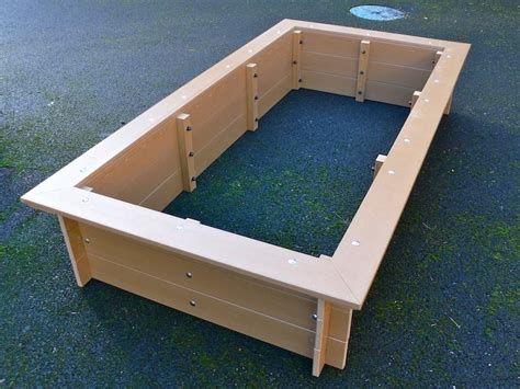 Plastic Raised Garden Beds by Delux Raised Bed With Seat Surround Recycled