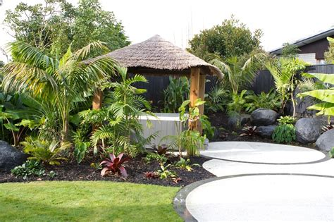 tropical delight on the shore peter fry landscapedesign co nz landscape design landscapers