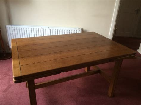 Solid Oak Dining Table With Leaf Solid Draw Leaf Oak Dining Table Sherry Rossmore For Sale