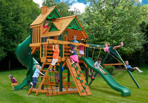backyard swing set kits wooden swingsets playsets and swingset plans kits for