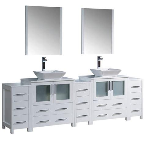 96 inch bathroom vanity fresca fvn62 96wh vsl torino 96 inch white modern double