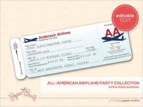 Airline Ticket Template Invitation by Ticket Template 91 Free Word Excel Pdf Psd Eps
