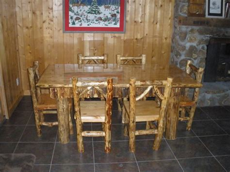 Log Dining Room Tables by Log Dining Room Table