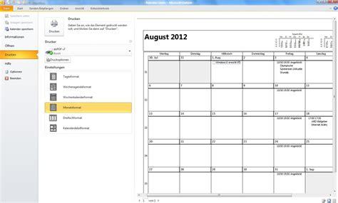 Kalender Ausdruck Outlook Kalender Drucken My