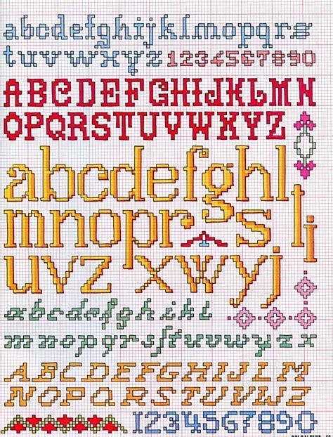 punto croce lettere alfabeti a punto croce meryweb