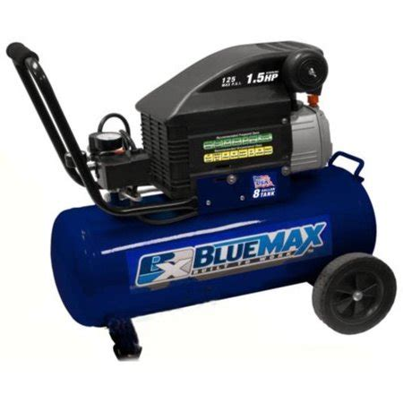 factory reconditioned blue max 42801 1 5 hp 8 gallon horizontal air compressor refurbished