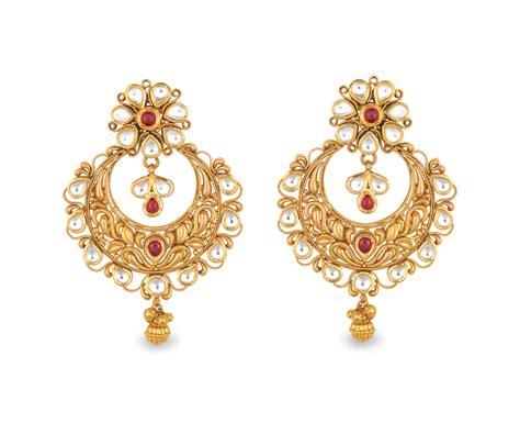 buy earrings buy antara chandbali gold earring for best