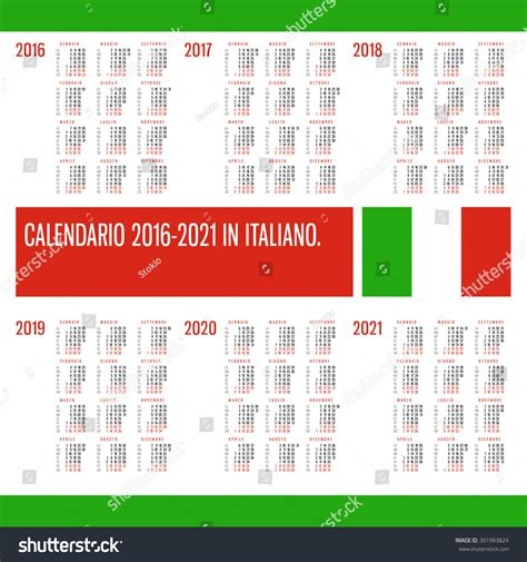 Calendar 2018 Not On The High Calendar 2016 2017 2018 2019 2020 2021 Years Vector Set