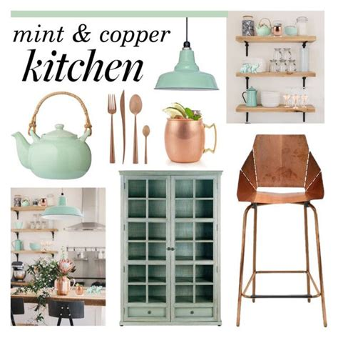 decorating a kitchen with copper quot mint copper kitchen quot by lgb321 liked on polyvore
