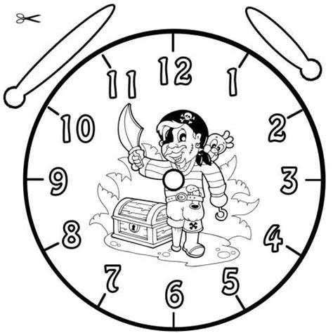 Kostenlose Vorlage Uhr Kostenlose Malvorlage Uhrzeit Lernen Ausmalbild Pirat Zum Ausmalen