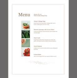 menu template event menu template sle templates
