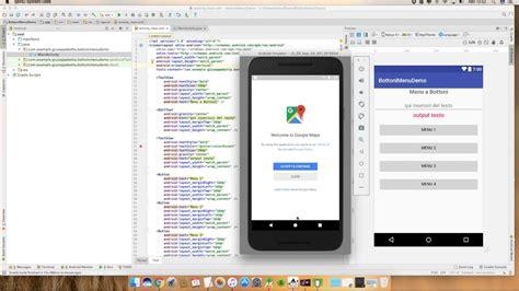 android studio options menu tutorial android studio tutorial menu a bottoni demo youtube