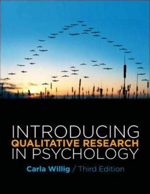 introducing psychology books introducing qualitative research in psychology